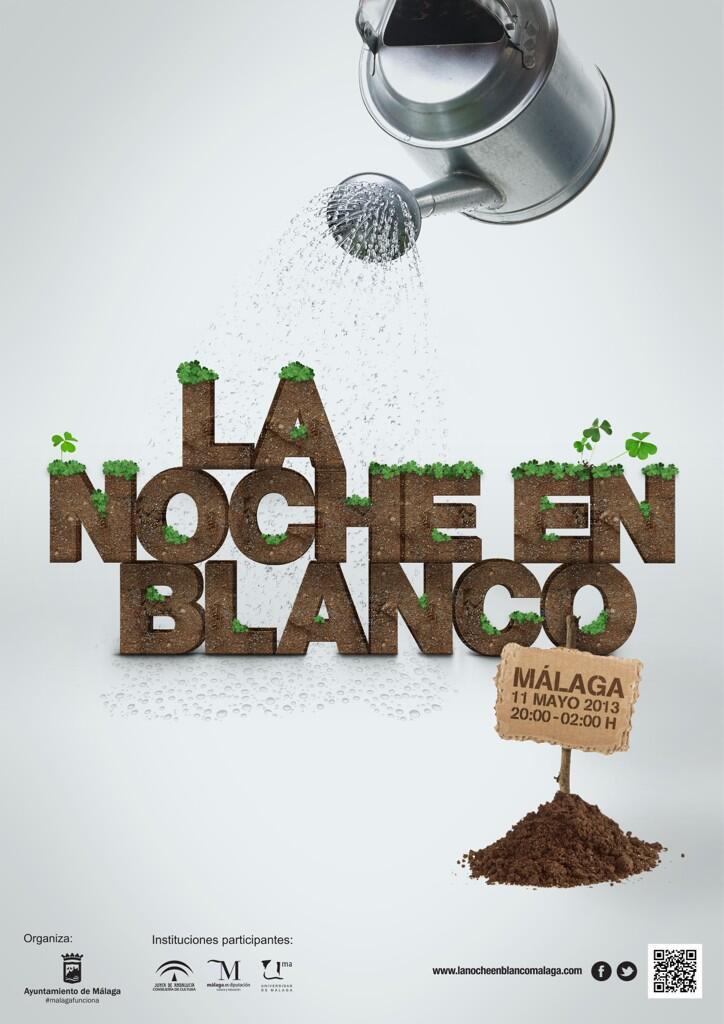 Cartel de la Noche en Blanco 2013